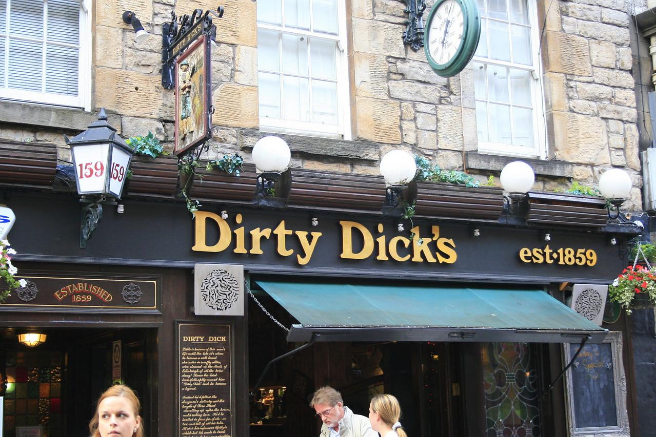 Pub names in Edinburgh.