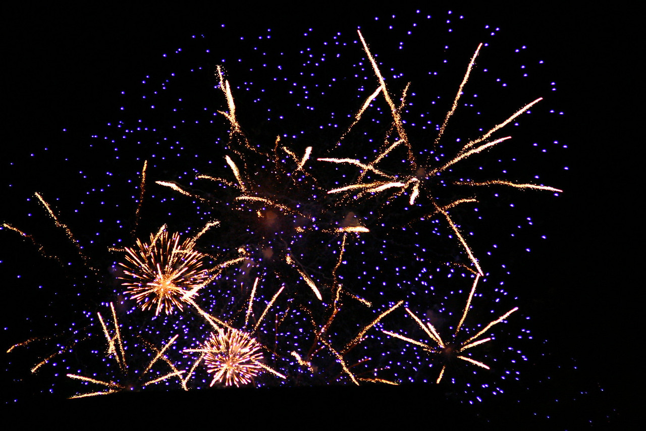 I was trying to read but was distracted by this fantastic explosion of fireworks outside of my window. <br /> <br /> This display of fireworks commemorated the closing of the Fringe Festival on September 6.