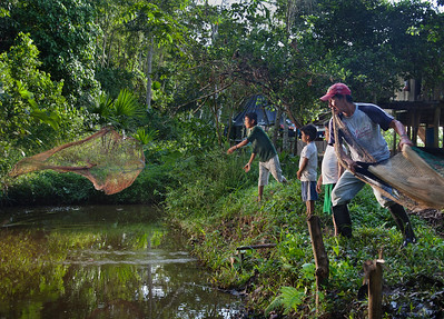 Fishing for Dinner, Jungles of Ecuador