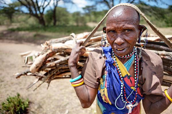 Hauling Wood, Maasai Mara, Kenya