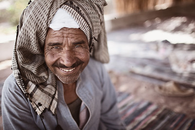 Portrait of a bedouin man, Sinai Peninsula, Egypt 2011