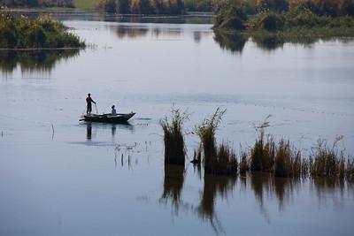 Fishing on the Nile, Nile River, Egypt