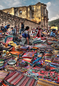 Color overload in Antigua Marketplace, Guatemala