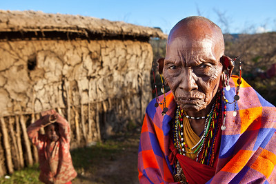Maasai Woman on the Maasai Mara, Kenya