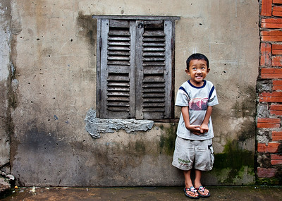 Smiles on streets of Cambodia. 2011
