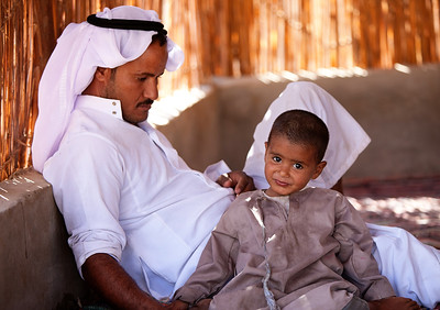 Father Looking over his Son, Bedouin Community, Sinai, Egypt