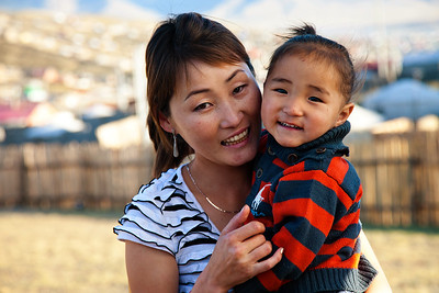 Mom and Son, Ulaanbaatar, Mongolia