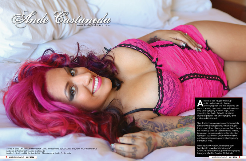 Published in Kultur Magazine Model: Kiri Quiroz  Makeup & Photography: Ande Castaneda