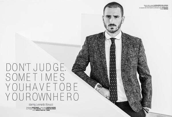 Leonardo Bonucci - Playboy Italia - dicembre-gennaio 2015/16