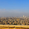 Smog hanging over city.  View from Cairo mosque.