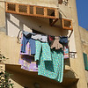Cairo apartment window clothes dryer.