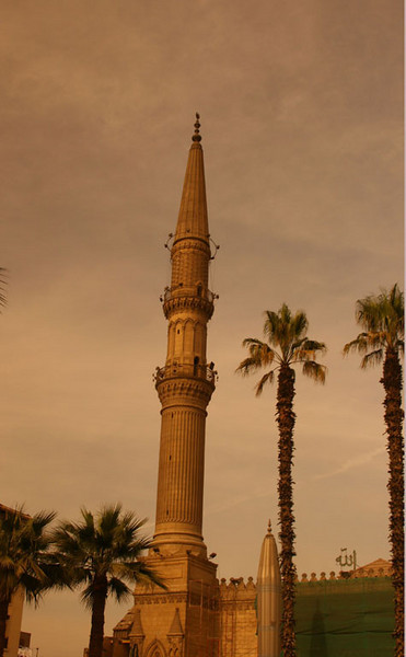 Minaret of mosque in Cairo.