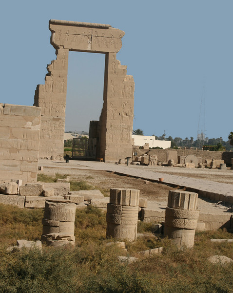 Dendera Temple and ancient columns