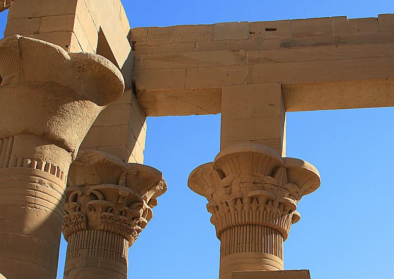 Columns of Philae Temple.