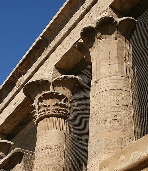 Edfu columns.