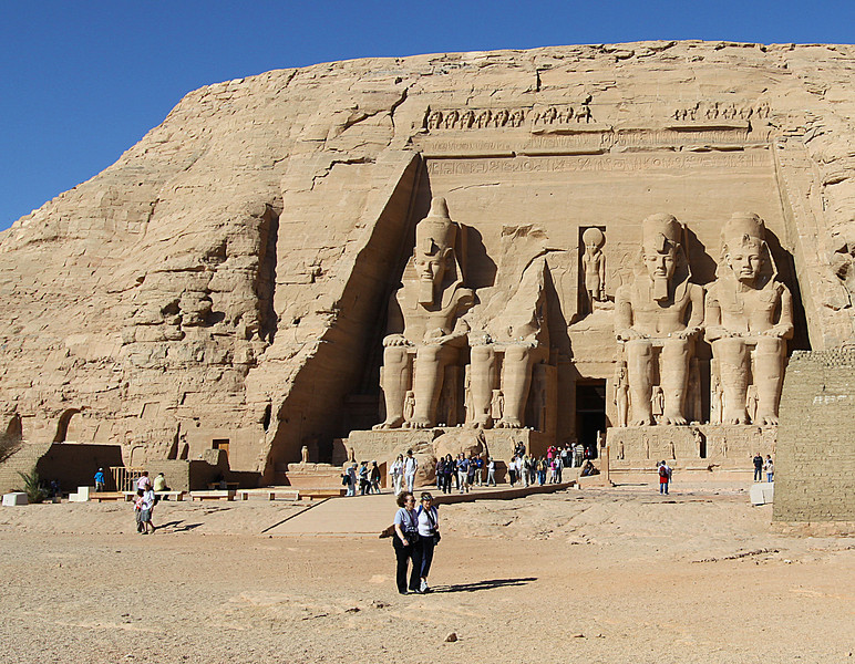 Abu Simbel--dedicated to Ramses wife Nefetari.