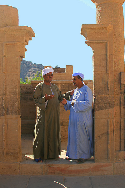 Guards at Philae Temple