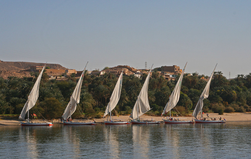 Felucca boats waiting to sail.