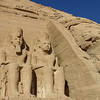 All statues depict Ramses II...and below his knees is his<br /> wife, Nefertari and queen mother.  Completed after 20 years in 1265 BCE.