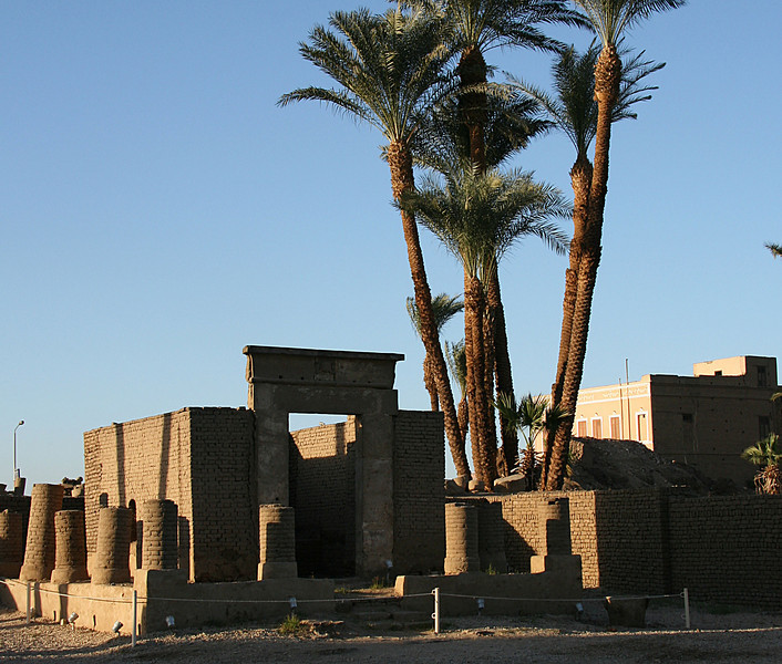 Luxor temple..runs through the town. Excavated in 19th Century.