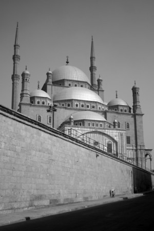 Outer wall - Muhammad Ali Pasha Mosque, Citadel of Salahuddin, Cairo