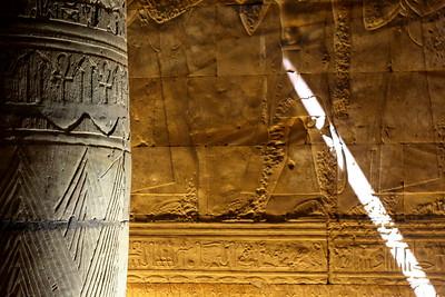 Column and Light - Edfu Temple, Edfu