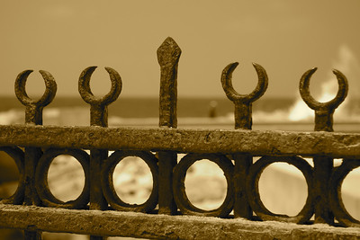 Fence and Waves - Fortress of Sultan Kait Bey, Alexandria