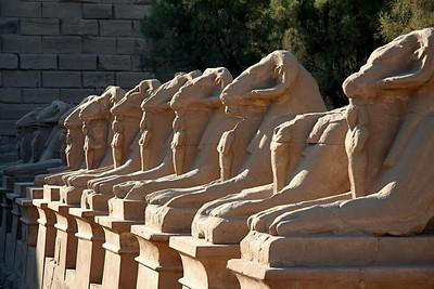 Entryway Statues - Karnak Temple, Luxor