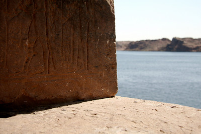 Hieroglyphs above the Nile - Temple of Isis, Aswan