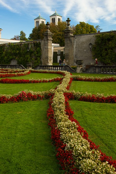 The gardens at Mirabell Palace in Salzburg.<br /> Photo © Carl Clark
