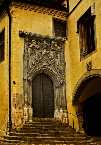 Detail from Old Town Hall, Regensburg, Germany.<br /> © Cindy Clark