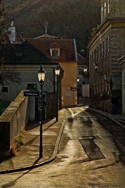 A street scene in Kahlenbergerdorf, Austria.<br /> © Cindy Clark