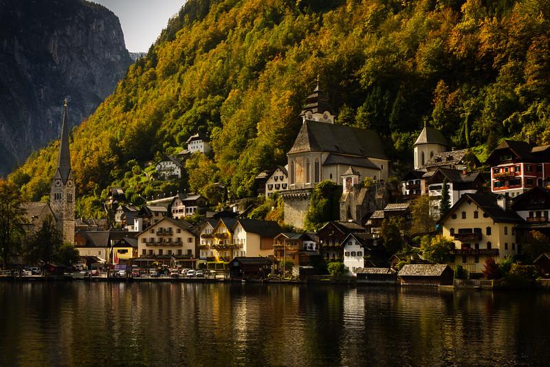 Doesn't get more picturesque than Hallstatt, Austria!<br /> Photo © Cindy Clark