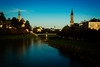 The Salzach flows peacefully on a fine day in Salzburg.<br /> Photo © Carl Clark