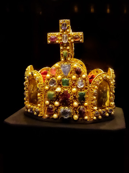 The Imperial Crown of the Holy Roman Empire,  made in the 10th or 11th century.<br /> Photo © Cindy Clark