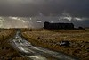 Skirting a storm on farmland near Hofsvik.<br /> Photo © Carl Clark