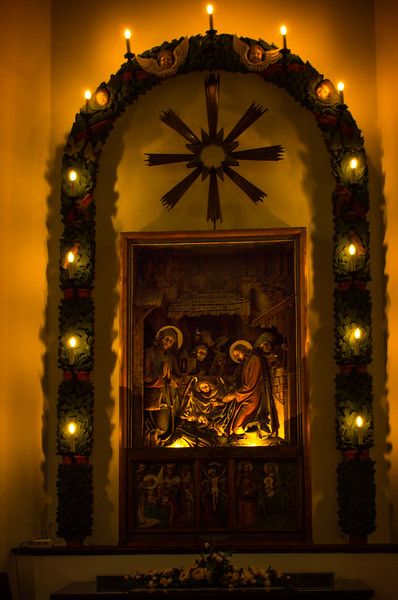 This is the altar in the tiny church in Oberndorf, Austria, where Silent Night was composed and first performed.<br /> Photo © Cindy Clark