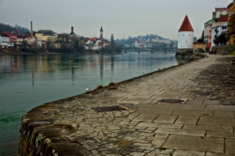 A placid winter day in Passau, Germany.<br /> Photo © Carl Clark