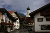 A brief respite from the rain in village of Oberammergau, Germany.<br /> Photo © Carl Clark