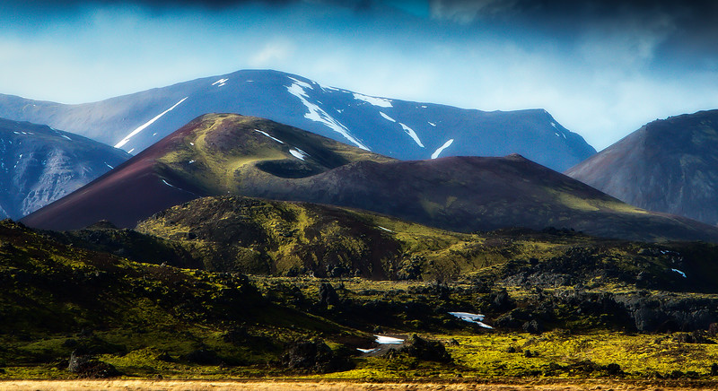 A cinder cone is another reminder of Iceland's origins..<br /> Photo © Cindy Clark