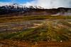 Steamy landsape in Geysir.<br /> Photo © Carl Clark