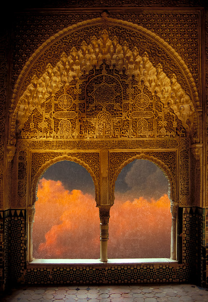 The Alhambra in Granada, Spain lends itself to fantastical imagery.<br /> Photo © Cindy Clark