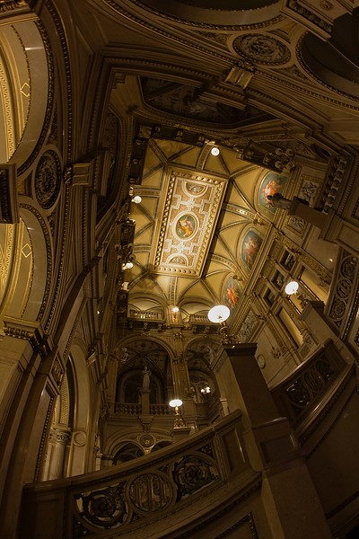 On the stairway of the magnificent Vienna State Opera (Wiener Staatsoper).<br /> Photo © Carl Clark