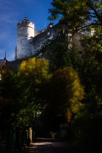 A beautiful autumn day and a walk up to Hohensalzburg Fortress, Salzburg.<br /> Photo © Cindy Clark