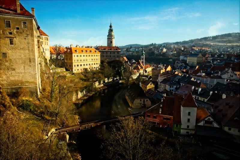 View of Cesky Krumlov, Czech Republic.<br /> © Cindy Clark
