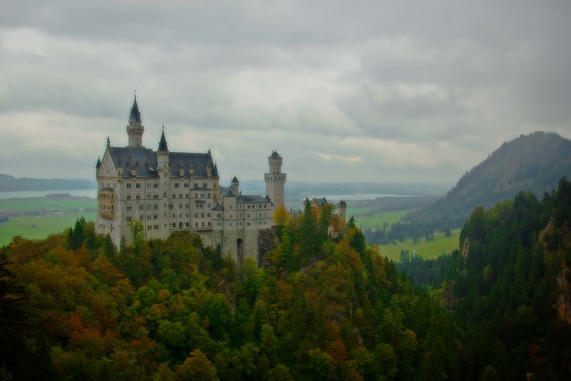 The much visited Neuschwanstein Castle in Bavaria.<br /> Photo © Carl Clark