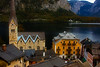 Looking down on the town center in Hallstatt. Our hotel on the right.<br /> Photo © Cindy Clark