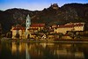 The Durnstein Abbey established in 1410, and rebuilt in 1710.  Wachau Valley, Austria.<br /> © Cindy Clark