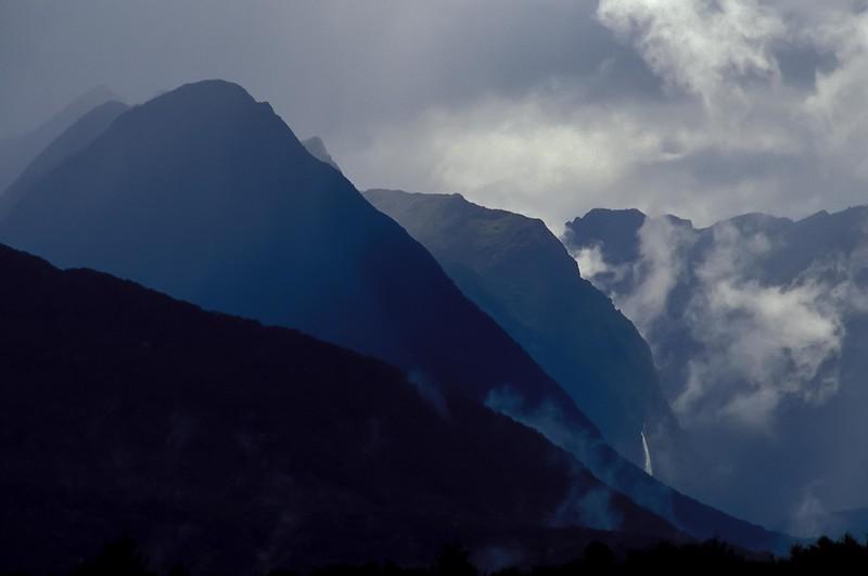 New Zealand's misty Fjordlands on the South Island. <br /> Photo © Carl Clark