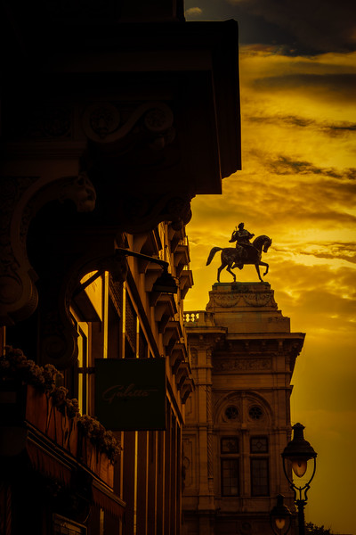 Gute Nacht, Vienna.  This is a view toward the Vienna Opera House on our last night.<br /> Photo © Cindy Clark